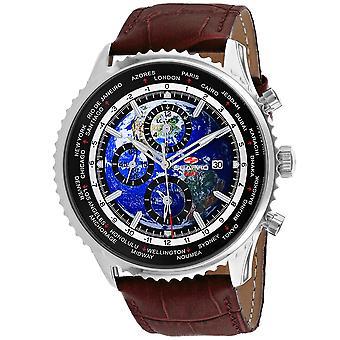 Seapro Men's Meridian World Timer GMT Blue Dial Watch - SP7131