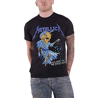 Logotipo de banda Metallica T camisa Doris oficial nova Mens Black