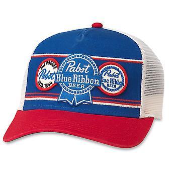 Pabst Blue Ribbon Beer Vintage Mesh Trucker Hat