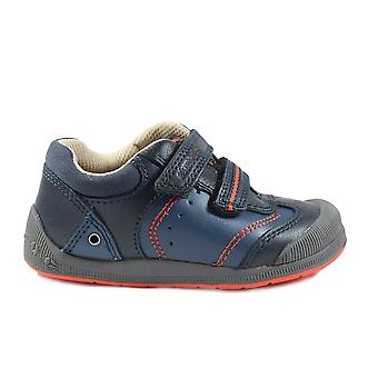 Startrite Tough Bug Navy Leather Boys Rip Tape First Shoes