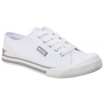 Rocket Dog Jazzin Canvas Ladies Cotton Casual Trainers White