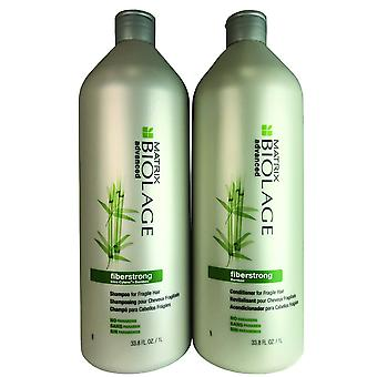 Matrix biolage fiberstrong hair shampoo and conditioner duo 33.8 oz each