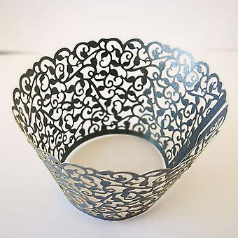 Cupcake Wrappers Liners Laser-cut Muffin Papers Cups Caisses