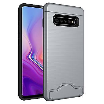 For Samsung Galaxy S10+ PLUS Case Silver Slim TPU+PC Brushed Shockproof Cover