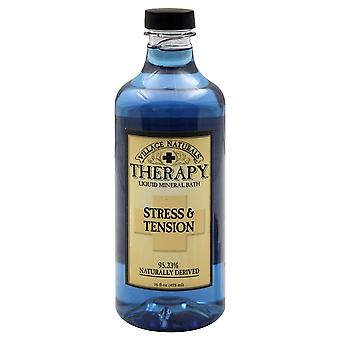 Village naturals therapy stress & tension bath, 16 oz