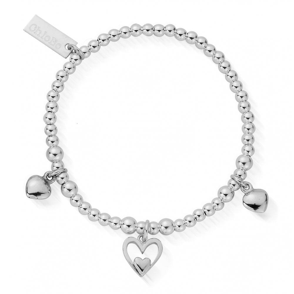 ChloBo Children's Silver Triple Heart Bracelet