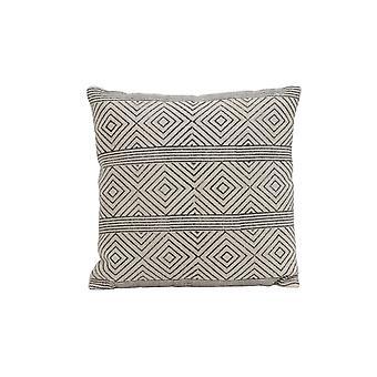 Light & Living Pillow 50x50cm Damili Black-White Rhombus Print Striped
