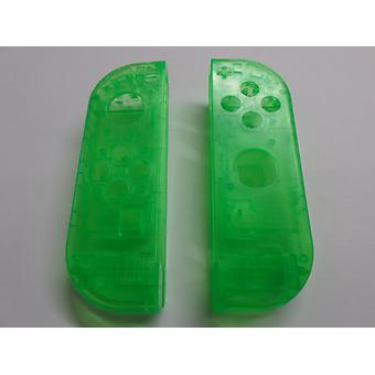 Housing for nintendo switch joy-con controllers replacement protective shell cover - clear green | zedlabz