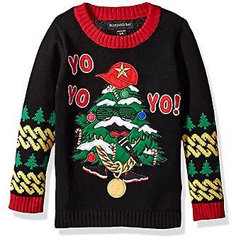 Blizzard Bay Boys Ugly Chrismas Sweater Santa, Black Combo, 4 S
