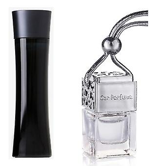Armani Code For Him Inspired Fragrance 8ml Chrome Lid Bottle Hanging Car Vehicle Auto Air Freshener