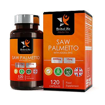 Saw Palmetto Extract (3000mg) 120 Capsules