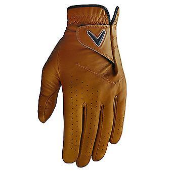 Callaway Golf Mens Opti Colour MLH Premium Leather Perforated Golf Glove