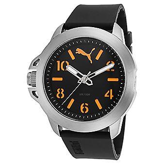 Cougar Time Impact One wrist watch, analog, Silicon band, grey/Orange