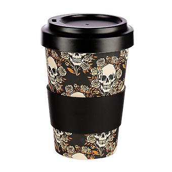 Puckator Skull and Roses Travel Mug