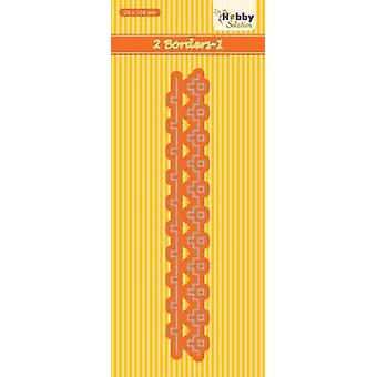 Nellie's Choice Hobby Solution Die two borders-1 HSDJ040 24x168mm