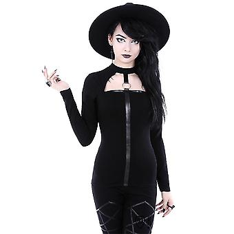 Restyle-Scarlett blouse-Witchy shirt met o-ring