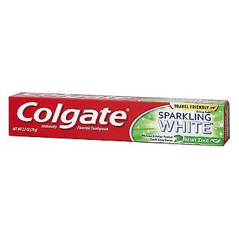 Colgate sparkling white tootpaste gel, mint zing, 2.5 oz