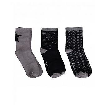 Ted Baker Accessories 3 Pack Star Socks