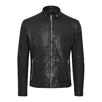 Black Adron Soft Leather Jacket