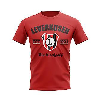 Leverkusen etablierte Fußball-T-Shirt (rot)