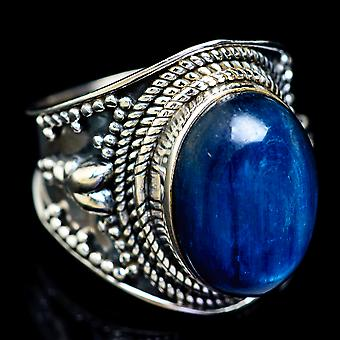 Kyanite Ring Size 6.75 (925 Sterling Silver)  - Handmade Boho Vintage Jewelry RING5222