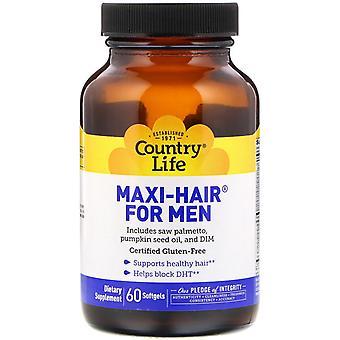 Maxi Hair för män (60 softgels)-Country Life