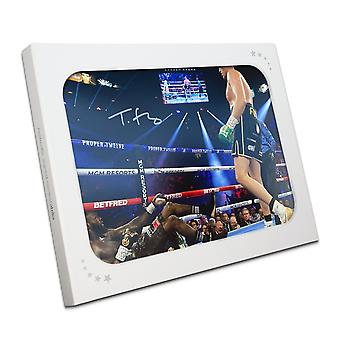 Tyson Fury Signed Boxing Photo: Deontay Wilder Knockdown In Gift Box