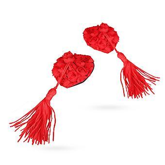 Rose Garden mamelon autocollants-rouge