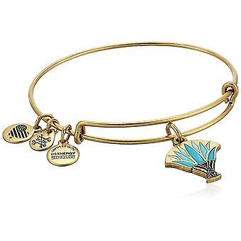 Alex and Ani Blue Lotus EWB Bangle Bracelet - Rafaelian Gold - Expandable - A18EBBLRG