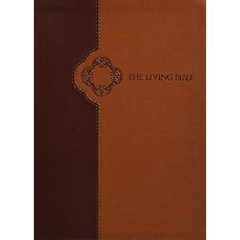 Living Bible Large Print Edition Brown/Tan - Indexed by Tyndale - 978
