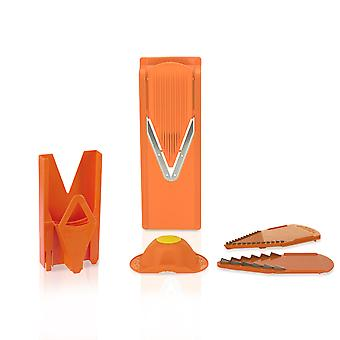 Börner V3 Kitchen Planer with Holder & Multibox in orange, grater, potato cutter