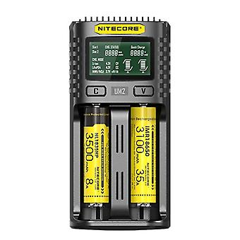 5V/2a lithium battery lcd screen display 2-slots smart rapid charger for 18650 battery