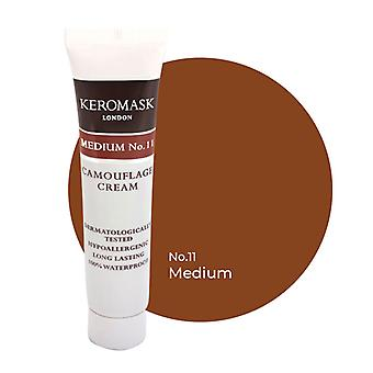 Keromask Full Cover Concealer Medium No 11 | Waterproof Camouflage Makeup | Hypoallergenic | 15ml