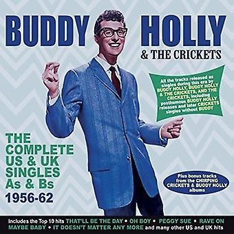 Buddy Holly & Crickets - Buddy Holly & Crickets: Complete Us & Uk Singles as & Bs 1956-62 [CD] USA import