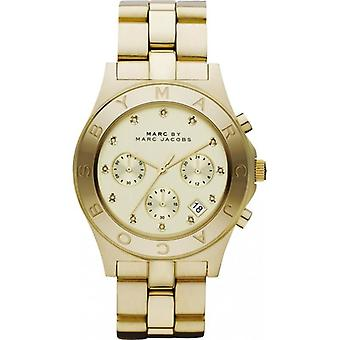 Marc By Marc Jacobs Gold Ladies Watch MBM3101 Gold Chronograph Date 24 Hour Time