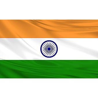 India Flag 3ft x 5ft Polyester Fabric Cricket Sport Country