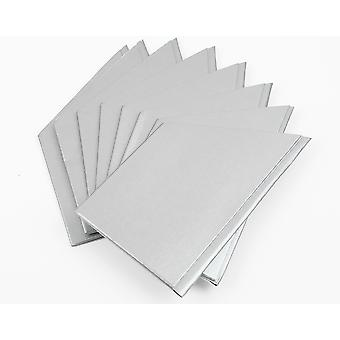 10 Pearlescent Silver Paper Hats for DIY Christmas Cracker Crafts