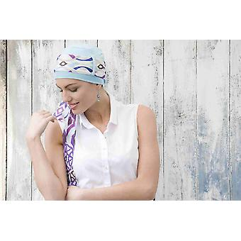 Yanna Blue Sky Purple Losange Sjaal