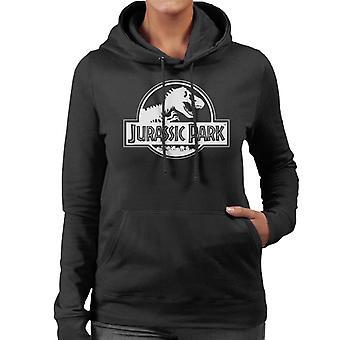 Jurassic Park klassieke zwarte & wit logo vrouwen ' s Hooded Sweatshirt