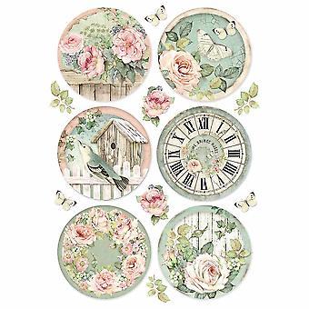 Stamperia Rice Paper A4 Round Clocks