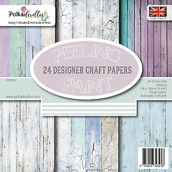 Polkadoodles Distressed Wood 6x6 Inch Paper Pack