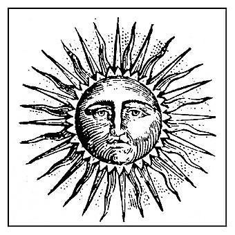 Natural Rubber Stamp Sun (WTKCC124)