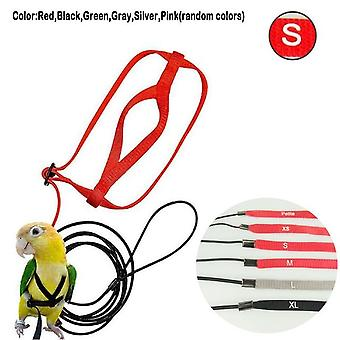 Adjustable Parrots Bird Harness Leash Anti Bite Training Rope Outdoor Flying Harness Leash