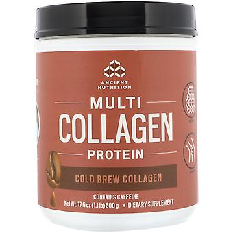 Dr. Axe / Ancient Nutrition, Multi Collagen Protein, Cold Brew Collagen, 1.1 lbs