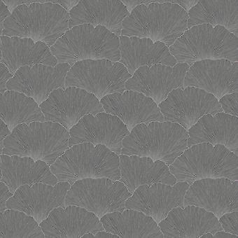 Remi Foliage Wallpaper Charcoal Holden 65681