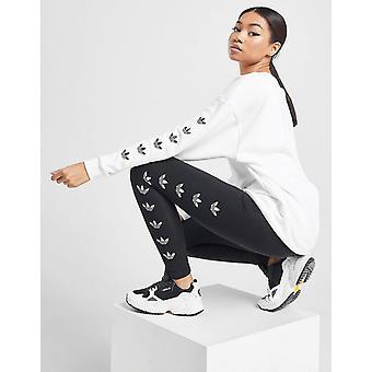 New adidas Originals Women's Repeat Trefoil Leggings Black