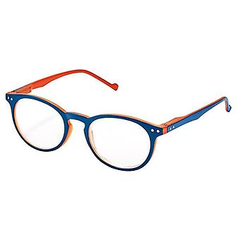 Lesebrille Unisex Libri_x  Bicolor blau/orange Stärke +1,0