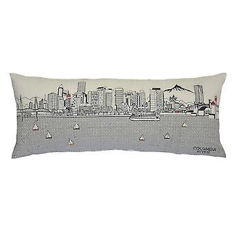 Spura Home Portland painettu taivaanranta kirjailtu villa päivä/yö tyyny