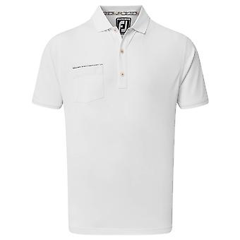 Footjoy Mens Super Stretch Pique Moisture Wicking Golf Polo Shirt