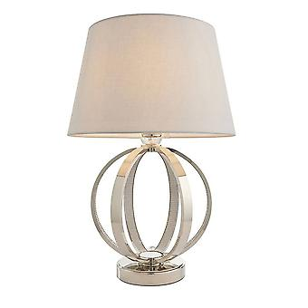 Endon Ritz - 1 Licht Tisch Licht hell Nickel & klar facettierten Acryl (nur Basis), E27